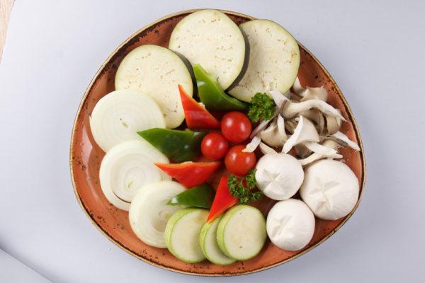 овощи для гриля из ресторана