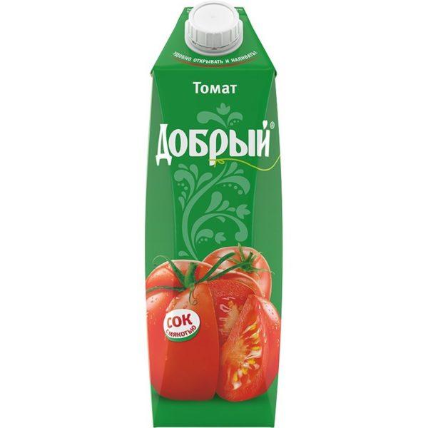 сок «добрый» томат, 1 л из ресторана
