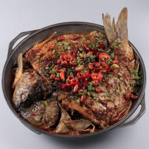 Карп по сы-чуаньски в ресторане Кимчи